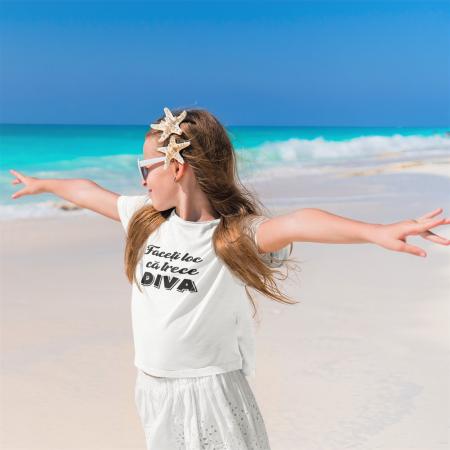 Tricou pentru copii personalizat - Faceti loc ca trece Diva [0]