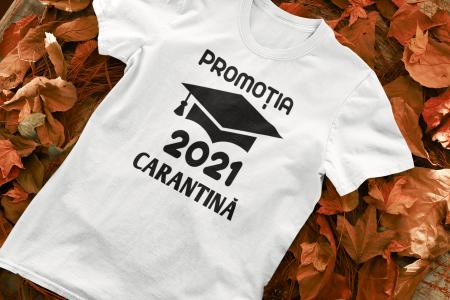 Tricou personalizat cu mesaj -  Absolvent 2021 Carantina [0]