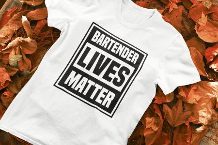 Tricou personalizat cu mesaj Bartender lives matter [0]