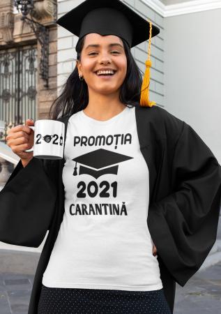 Tricou personalizat cu mesaj -  Absolvent 2021 Carantina [3]