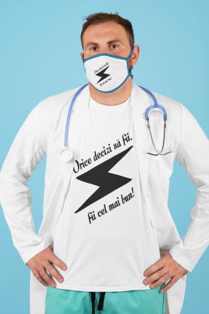 Tricou personalizat cu mesaj - Fii cel mai bun0