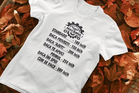 Tricou personalizat cu mesaj - Tarif de mecanic [0]