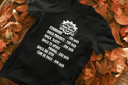 Tricou personalizat cu mesaj - Tarif de mecanic [1]