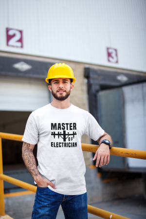 Tricou personalizat cu mesaj - Master of Electrician [4]