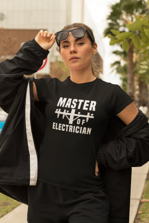 Tricou personalizat cu mesaj - Master of Electrician [3]