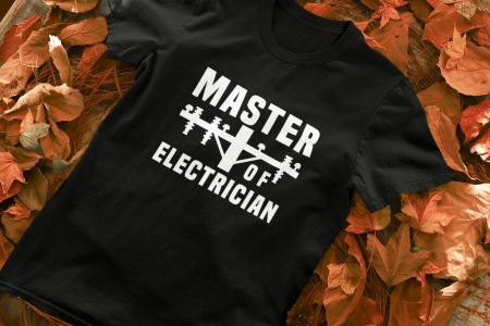 Tricou personalizat cu mesaj - Master of Electrician [1]