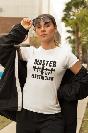 Tricou personalizat cu mesaj - Master of Electrician [2]