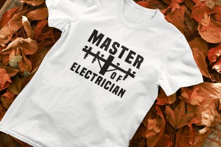 Tricou personalizat cu mesaj - Master of Electrician [0]