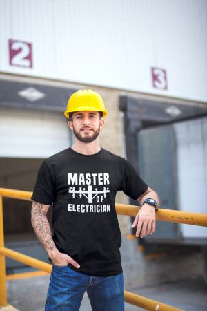 Tricou personalizat cu mesaj - Master of Electrician [5]