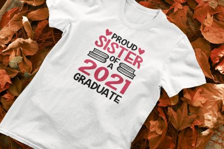 Tricou personalizat cu mesaj - Proud Sister of a Graduate [5]