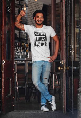 Tricou personalizat cu mesaj Bartender lives matter [4]
