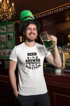Tricou personalizat cu mesaj -  Beer is the answer [2]