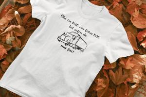 """Tricou personalizat cu mesajul """"Ori cu BAC, ori fara BAC""""0"""