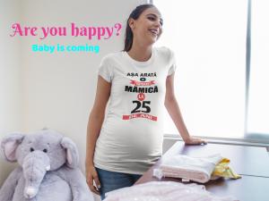 """Tricou personalizat cu mesajul """"Asa arata o viitoare mamica / tatic""""1"""