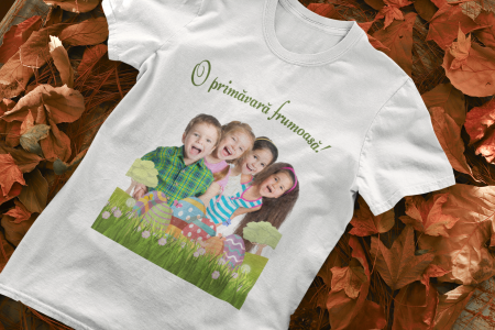 Tricou personalizat cu poza si mesaj - O primavara frumoasa [0]