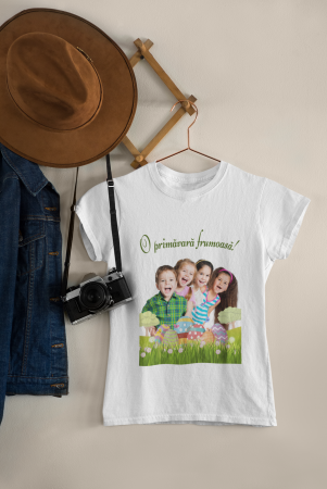 Tricou personalizat cu poza si mesaj - O primavara frumoasa [1]