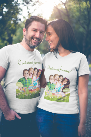 Tricou personalizat cu poza si mesaj - O primavara frumoasa [2]