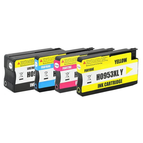 Set 4 Cartuse Cerneala Compatibile HP 953XL - (Black + Cyan + Magenta + Yellow) 0