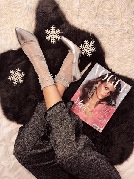 Pantofi Stiletto din piele laminata argintie 0
