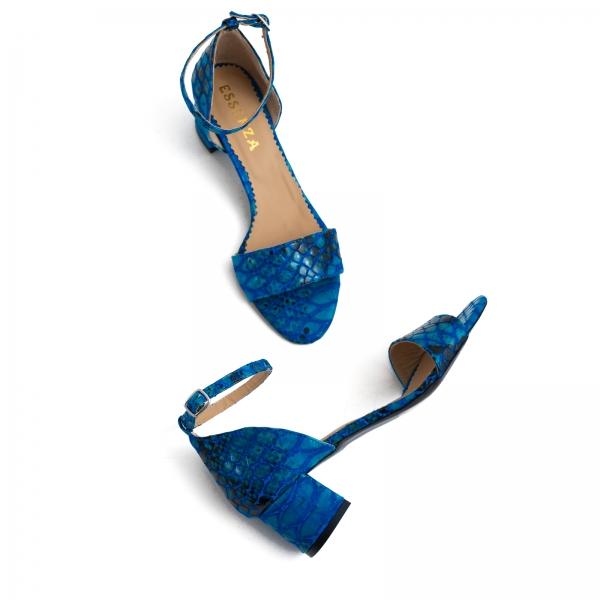 Sandale din piele albastra lacuita [4]