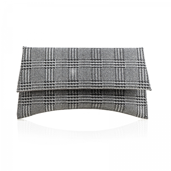 Poseta plic Maia, din material textil in nuante de gri [0]