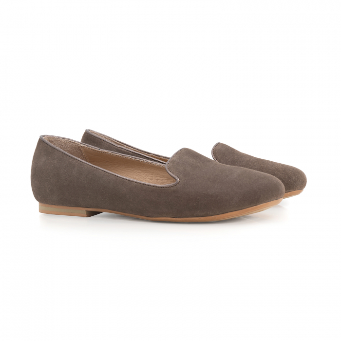 Pantofi confortabili si foarte usori, relizati din piele naturala intoarsa cafenie 1