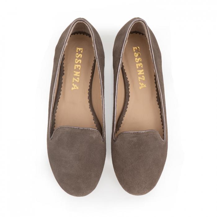 Pantofi confortabili si foarte usori, relizati din piele naturala intoarsa cafenie 2