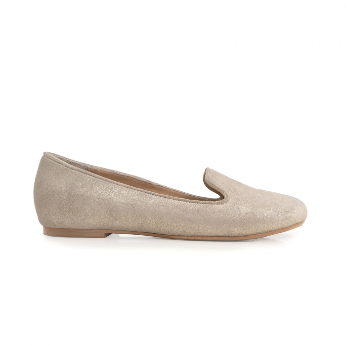 Pantofi confortabili si foarte usori, relizati din piele naturala bej aurie 0