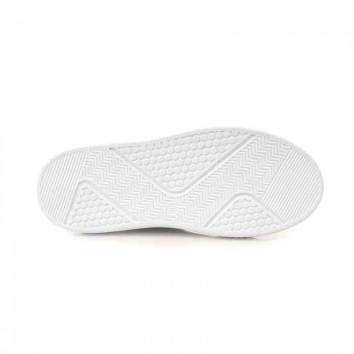 Ghete cu talpă groasă, realizate din piele naturală intoarsa, kaki cu perforatii 5