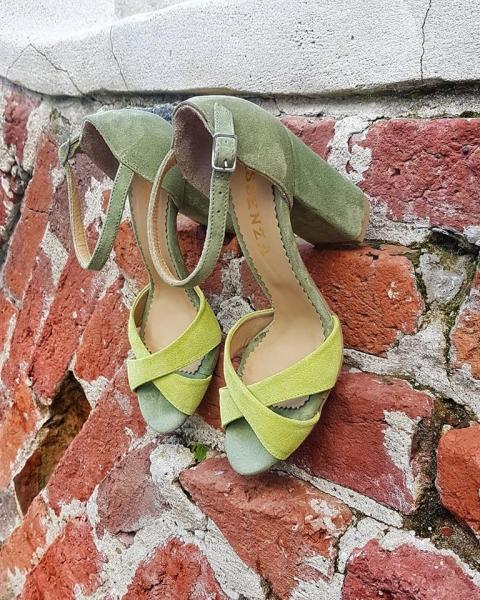 Sandale kaki si galben lime [0]