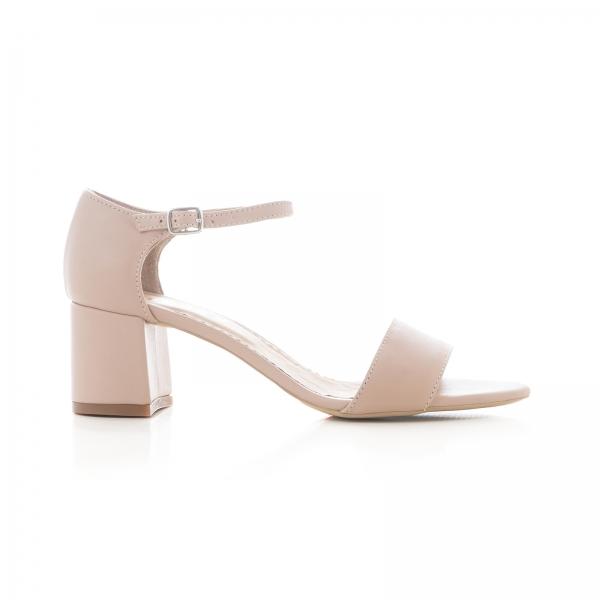 Sandale din piele naturala nude roze 0