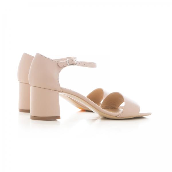 Sandale din piele naturala nude roze 2