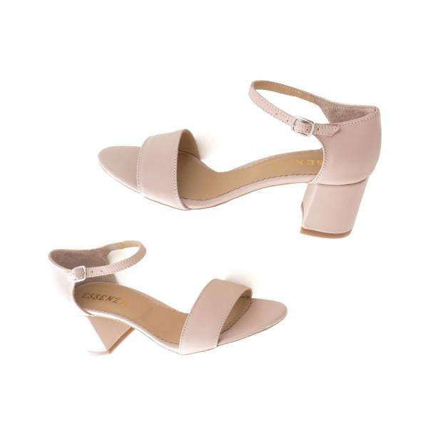 Sandale din piele naturala nude roze 3