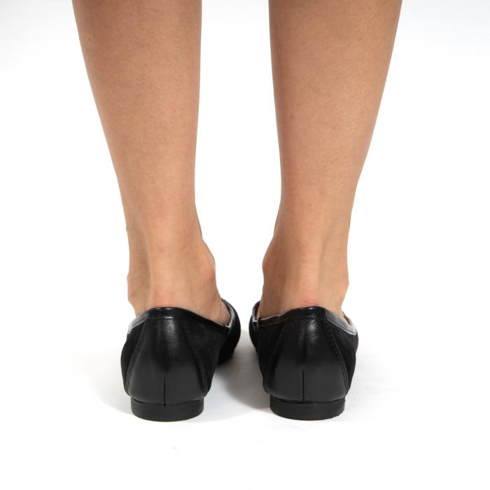 Balerini confortabili si foarte usori, relizati din piele naturala normala si intoarsa, neagra 5
