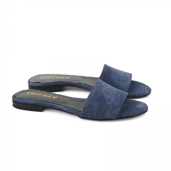 Flip flops din Jeans albastru 1