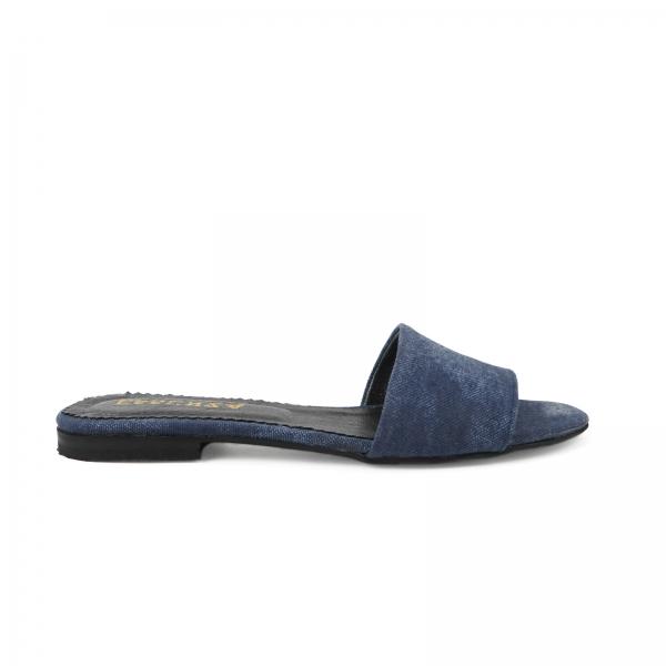 Flip flops din Jeans albastru 0