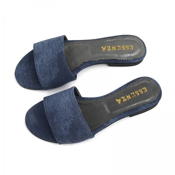 Flip flops din Jeans albastru 2