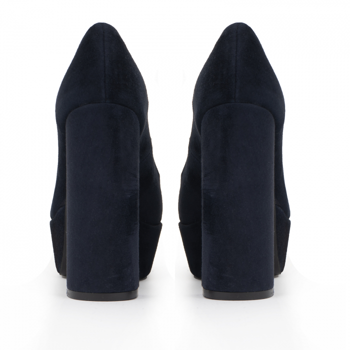 Pantofi din piele naturala intoarsa, neagra 2