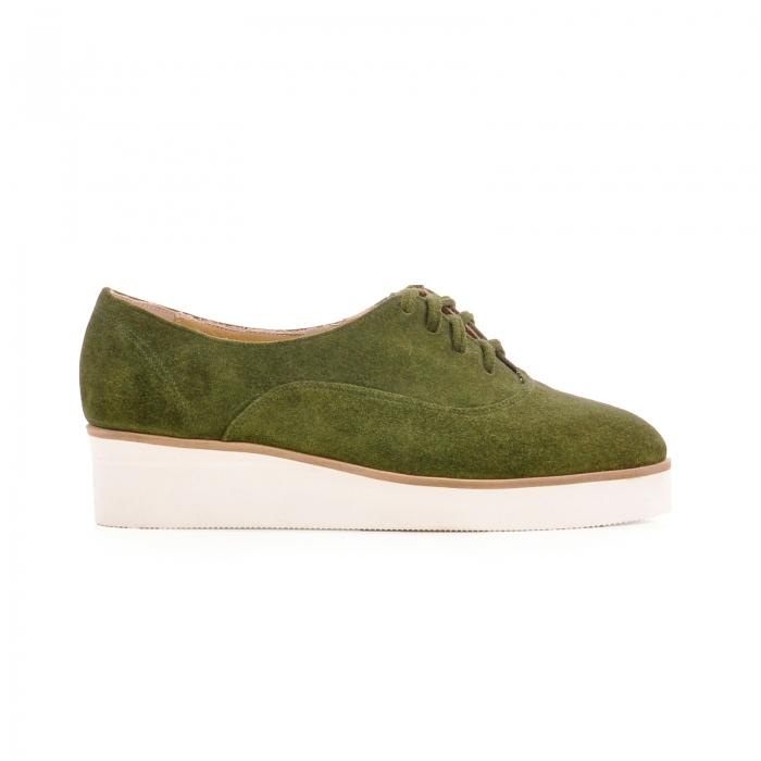 Pantofi oxford, din piele intoarsa vernil 0