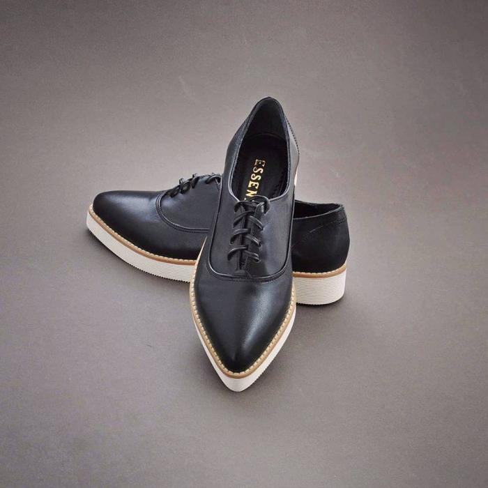 Pantofi oxford, din piele naturala neagra 1
