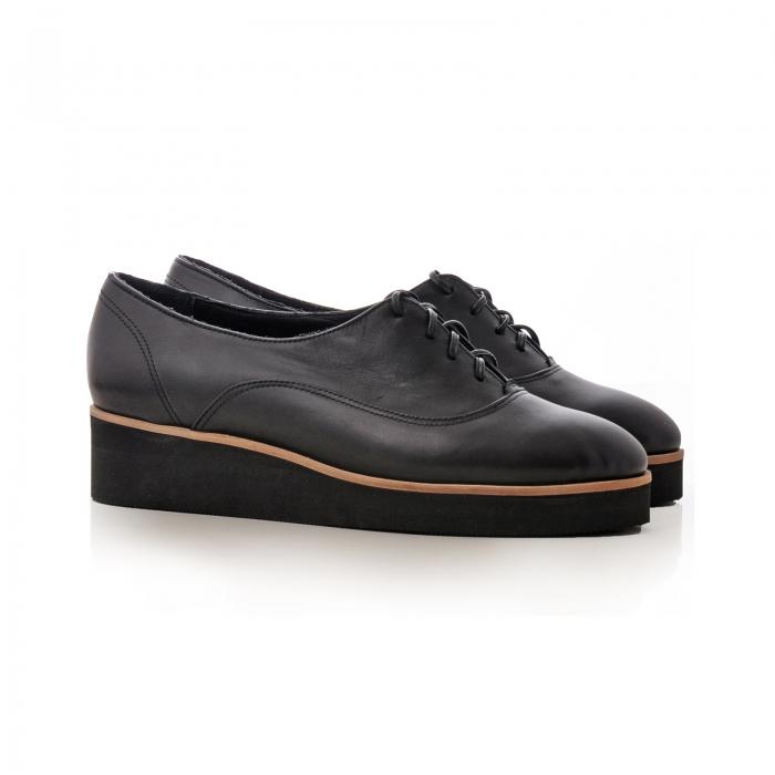 Pantofi oxford, din piele naturala neagra [1]