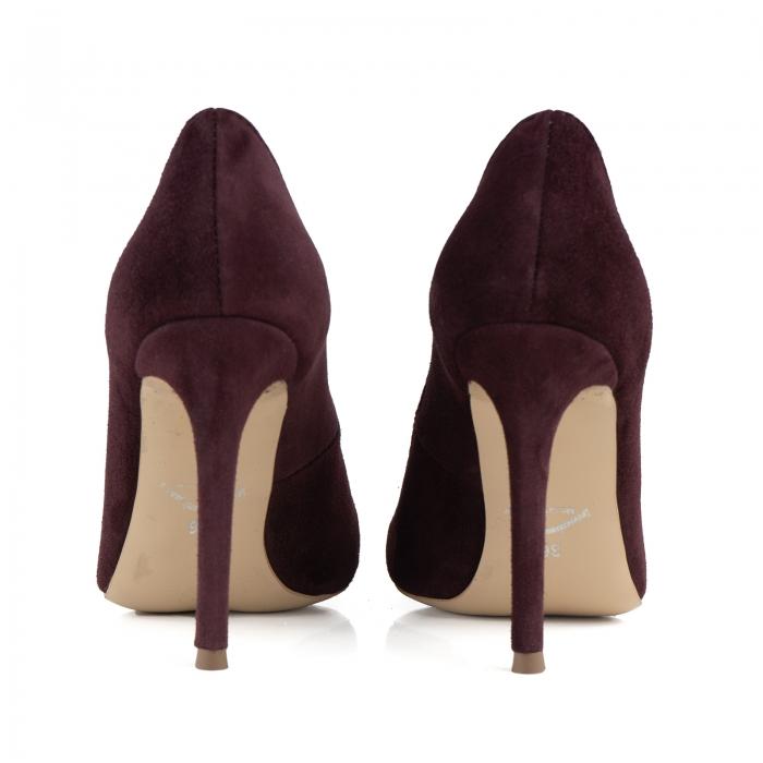 Pantofi Stiletto din piele intoarsa mov 3