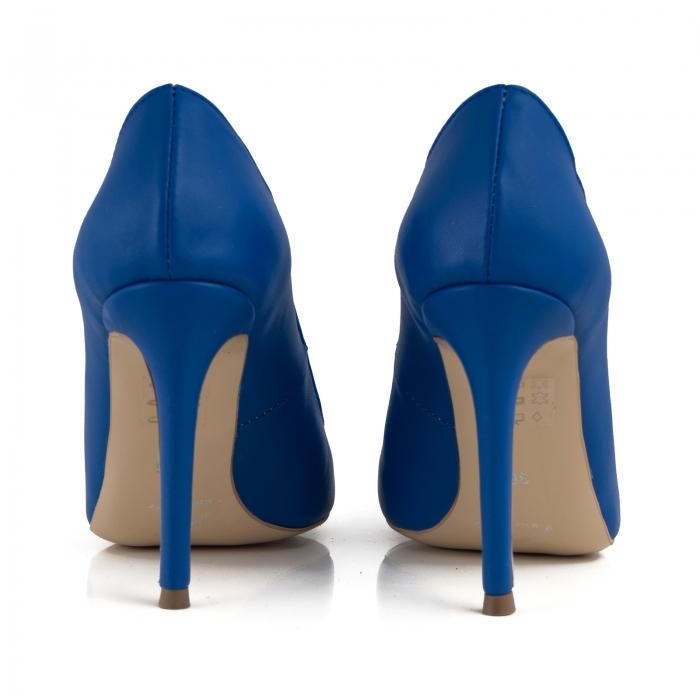 Pantofi Stiletto din piele naturala albastra 3