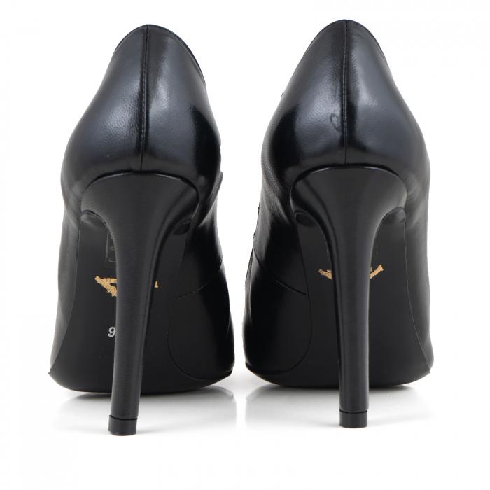 Pantofi Stiletto din piele naturala neagra 3