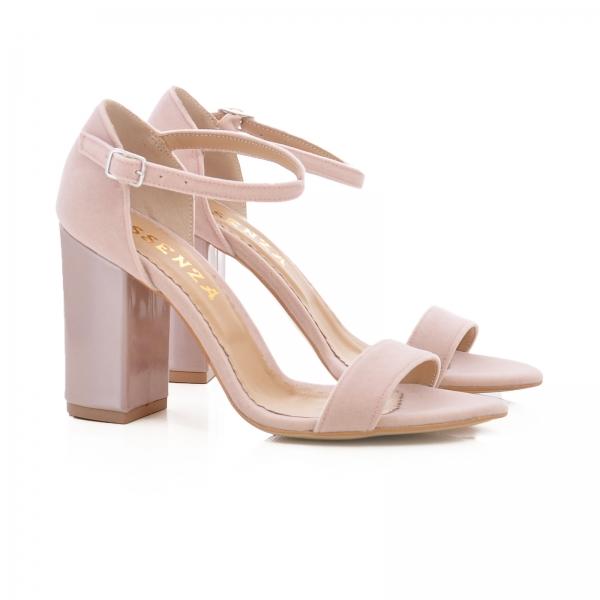 Sandale din catifea si piele lacuita [1]
