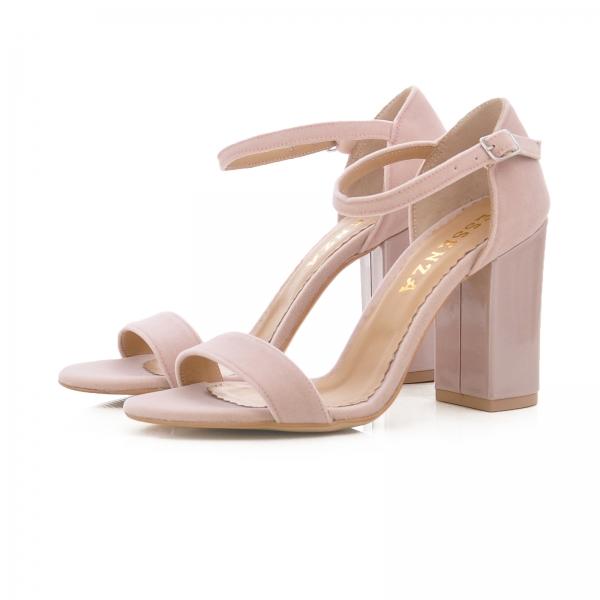 Sandale din catifea si piele lacuita [2]