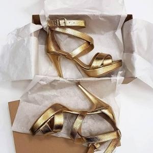 Sandale din piele aurie [2]