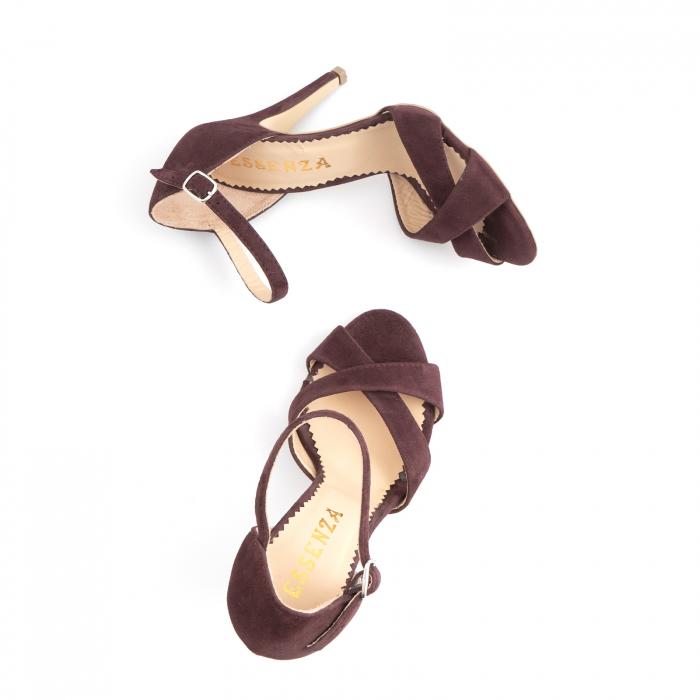 Sandale din piele intoarsa mov-pruna 3