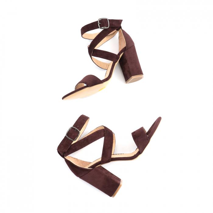 Sandale din piele intoarsa mov-pruna 4