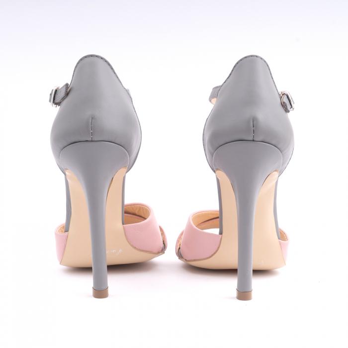 Sandale din piele intoarsa mov-pruna [4]